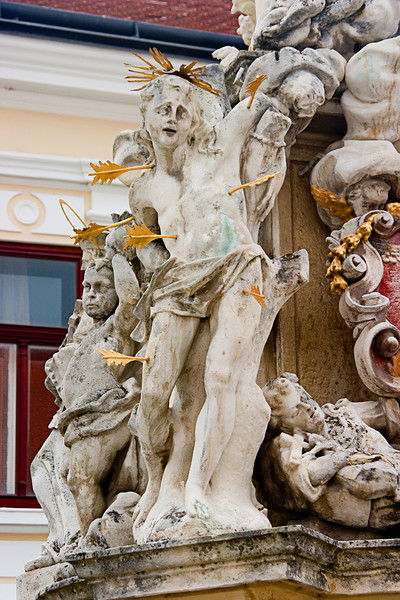 <center>Pierced by Arrows   <br><br>Eisenstadt, Austria   <br><br>Interesting statue.    </center>