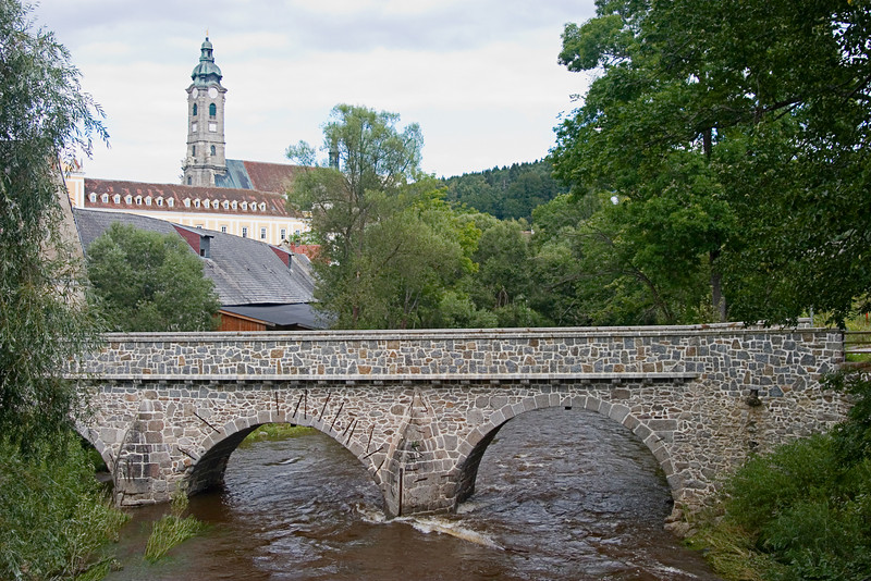 <center>12th Century Bridge   <br><br>Zwettl, Austria   <br><br>This bridge across the river was built in the 12th century and has been in continuous use for the last 900 years!    </center>
