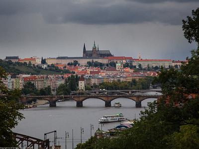 Prague - Hradčany - A view from Vyšehrad