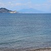 View of Mt Vesuvius from the beach near the marina