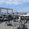 The beach bar right next to the marina