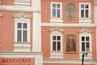 Kutná Hora - Rue Husova, façade baroque