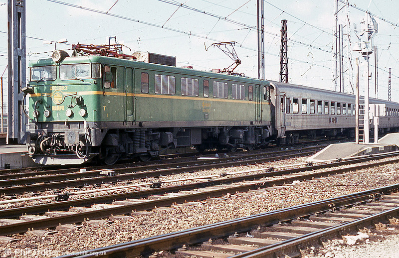 RENFE class 269 no. 269 108 at Hendaye with Portuguese stock in July 1984.