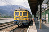 RENFE emu waiting at the French border station of La Tour de Carol with a service to Spain in August 1988.