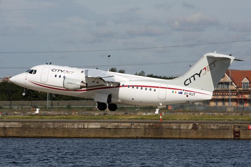 "EI-RJT BAe 146-RJ85 ""Cityjet"" c/n E2366 London City/EGLC/LCY 23-09-15"
