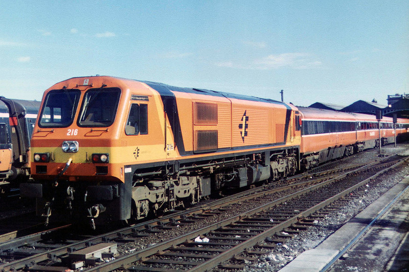216 at Dublin Heuston on the 29th September 1995.