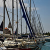 Sailboats in Mandraki Harbor