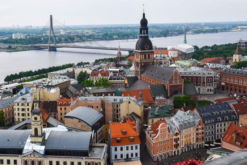 The view over Riga and the Daugava River