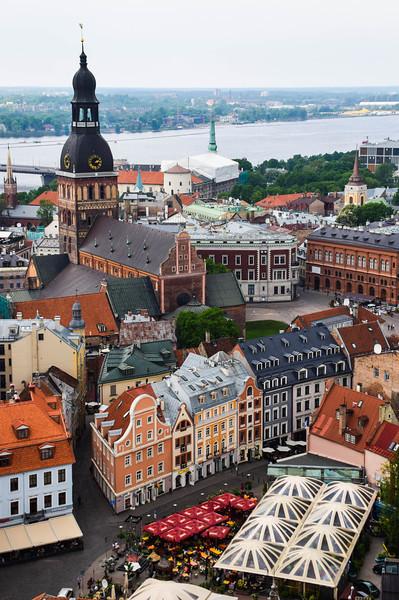 The view over Riga