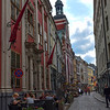 Colorful buildings and cobblestone streets