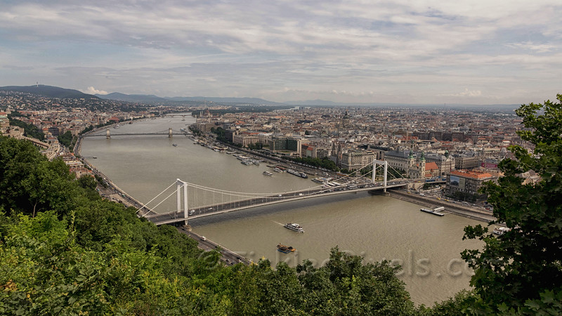 Elisabeth Bridge seen from Gellért Hill