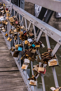 locks symbolizing permanent love for each other