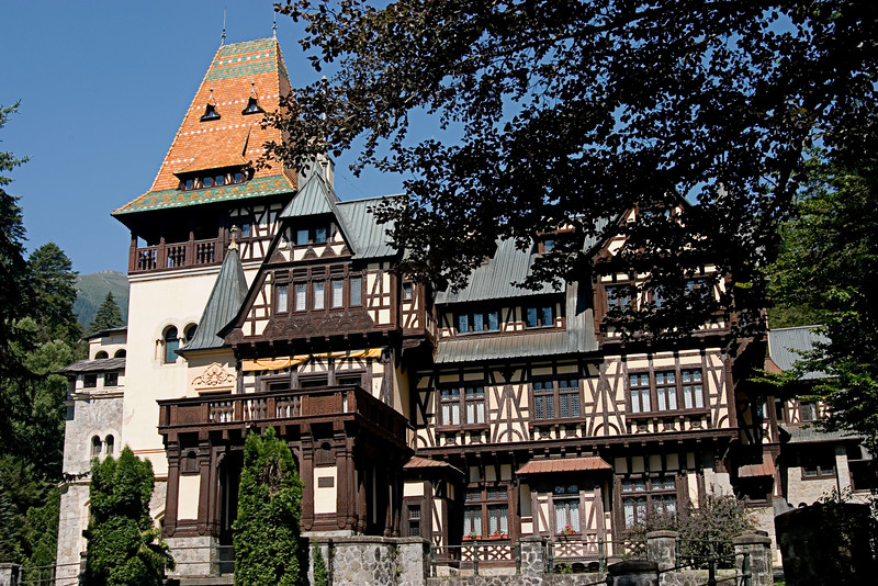 <center>Palace<br><br>Peles Castle<br><br>Sinaia, Romania    </center>