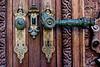 <center>Fancy Doorknobs<br><br>Peles Castle<br><br>Sinaia, Romania    </center>
