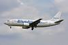 """YR-BAC Boeing 737-377 """"Blue Air"""" c/n 23653 Brussels/EBBR/BRU 31-05-09"""