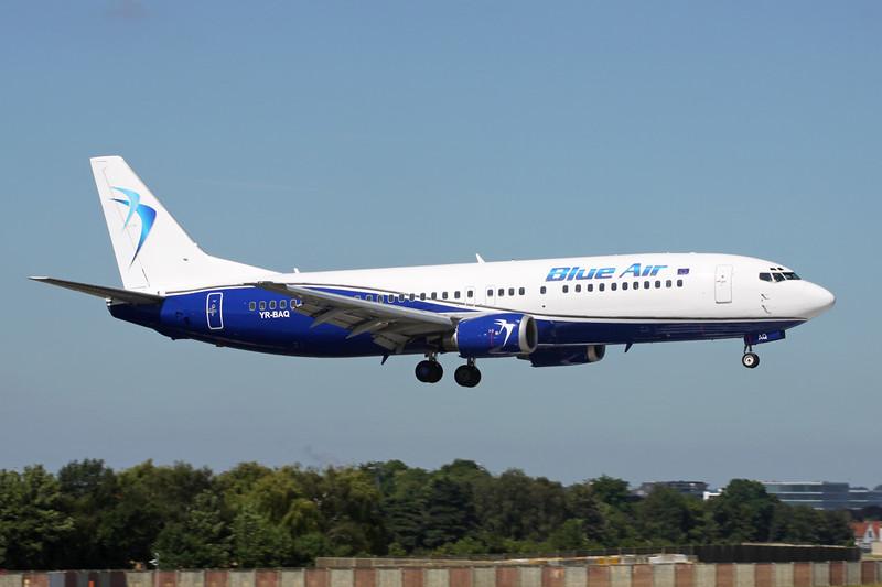 """YR-BAQ Boeing 737-4D7 """"Blue Air"""" c/n 28702 Brussels/EBBR/BRU 23-06-14"""