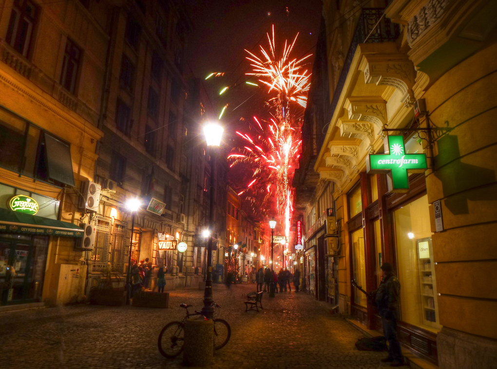 In Bucharest, Romania, New Year's Eve Runs A Bit Late