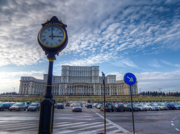 bucharest parliament clock