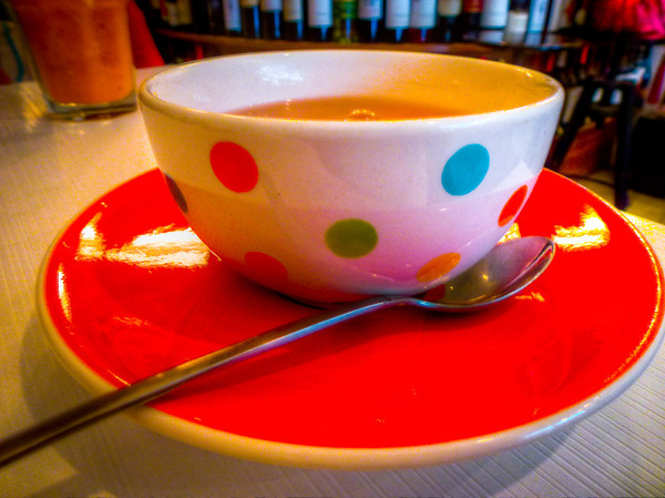 hot tea cup spots