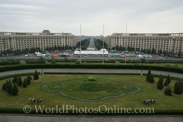Bucharest - Palace of the Parliament - Main Balcony 2