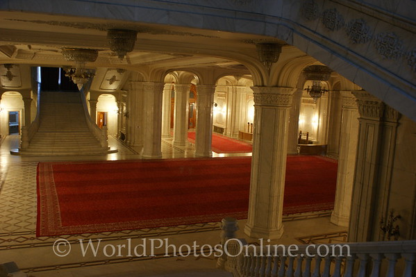 Bucharest - Palace of the Parliament - Stairs 2