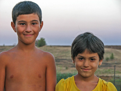 Cute kids from the village.