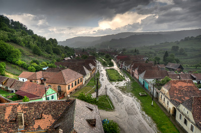 Houses on Calnic village in Transylvannia, Romania