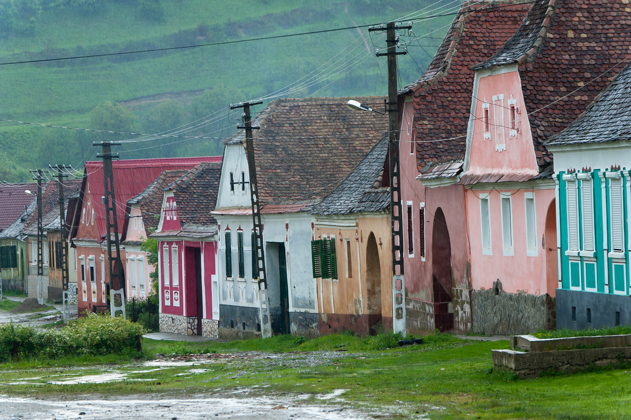 "Rows of houses in Calnic village, Transylvannia, Romania; DailyPhoto ""061114"""