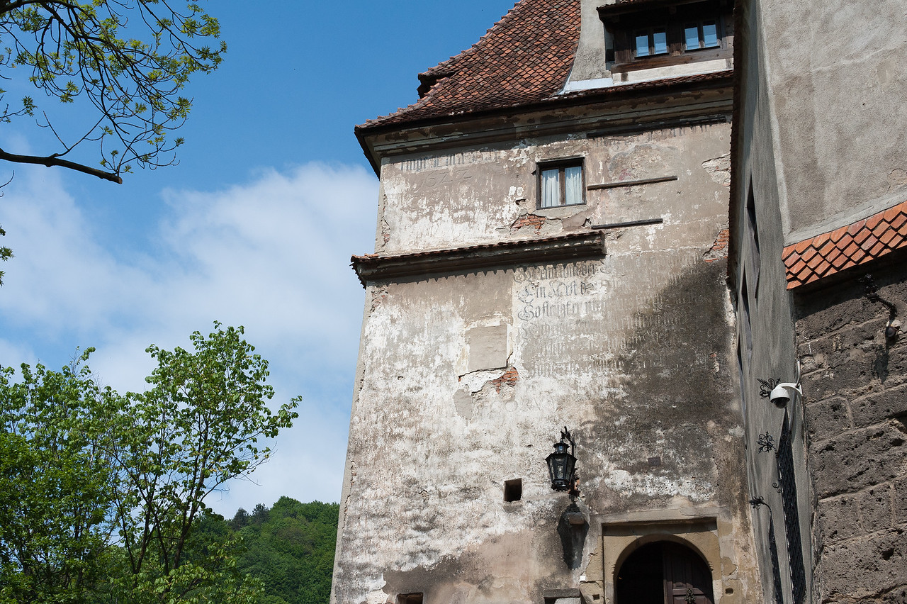 Details on walls at Bran Castle in Sighisoara, Romania