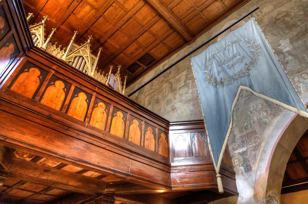 Inside the Calnic Fortified Church in Transylvannia, Romania