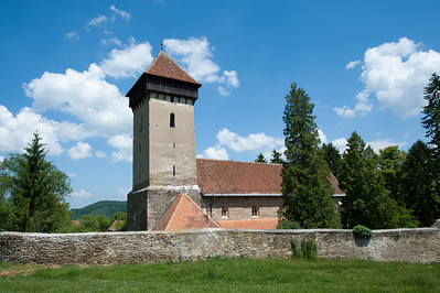 The tower of Calnic Fortified Church in Transylvannia, Romania