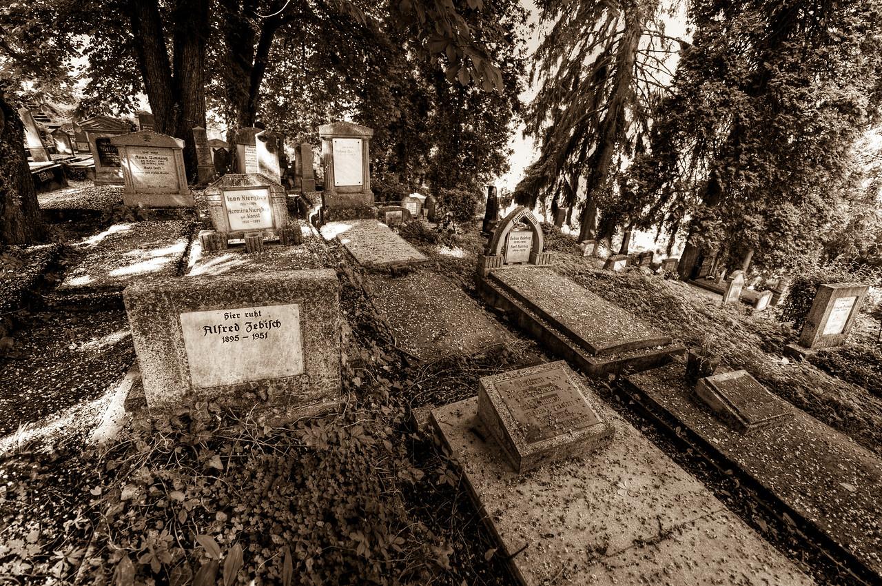 The grave site in Calnic, Romania