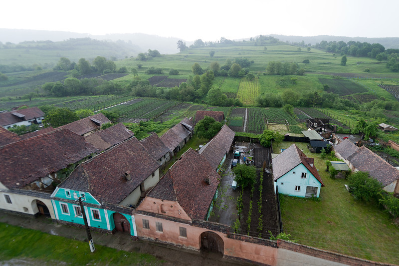Overlooking view of Calnic in Romania