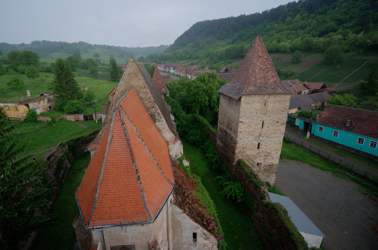 View from the tower of Calnic Fortified Church - Transylvannia, Romania