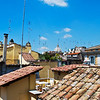 The view of the rooftops of Rome from the terrace