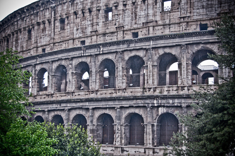 Roman Coliseum in the Rain