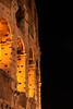 Light glows from within The Colosseo (also known as the Colosseum, Coliseum or Flavian Amphitheatre (Latin: Amphitheatrum Flavium; Italian: Anfiteatro Flavio)).