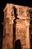 The triumphal arch, Arch of Constantine (Italian: Arco di Costantino) as seen at night.