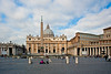 The Papal Basilica of Saint Peter & view of St. Peter's Square