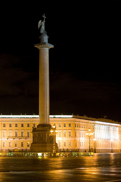 The Alexander Column in St. Petersburg's Palace Square.