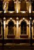 Interesting St. Petersburg building at night.