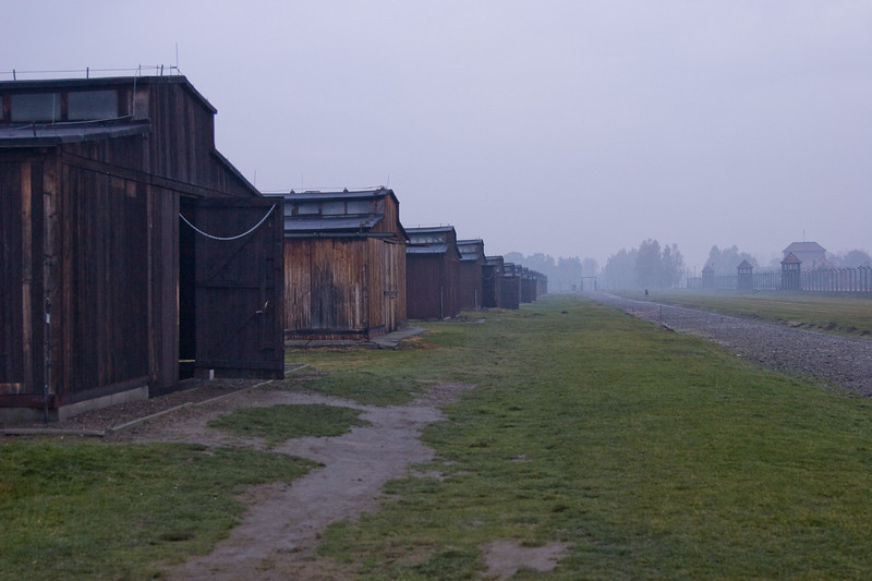 As far as the eye can see, are the remnants of barracks.  The average lifespan of a slave laborer here was about 6-8 months; shorter in the winter.  This is not surprising as these stables offer little protection from the elements.