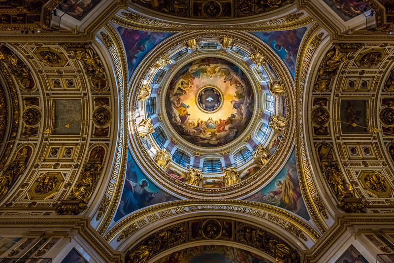 Great dome honoring the Holy Spirit St. Isaac's Cathedral
