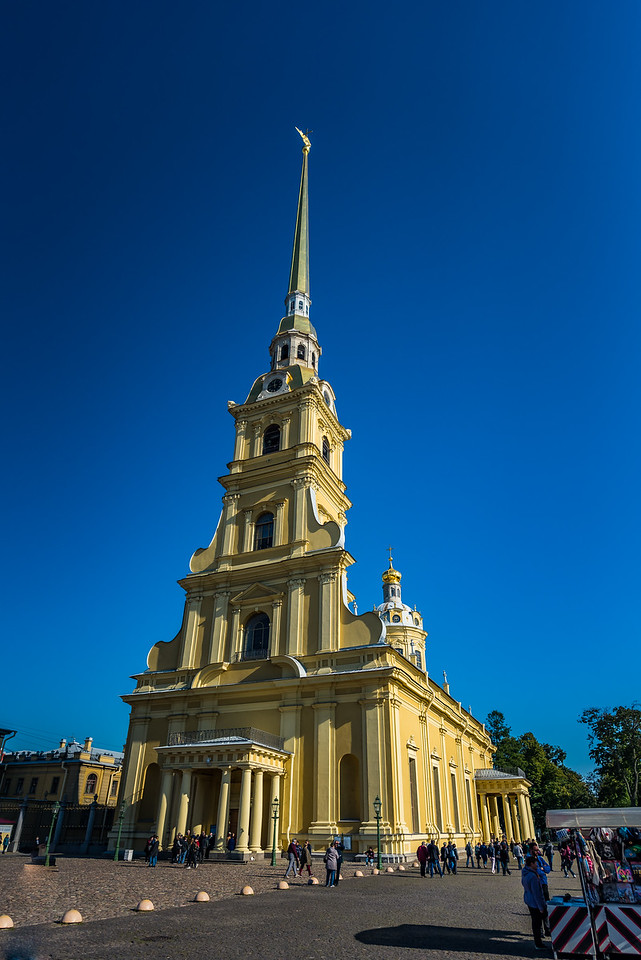 Exterior of St Peter and Paul Cathredral St Petersburg - circa 1712
