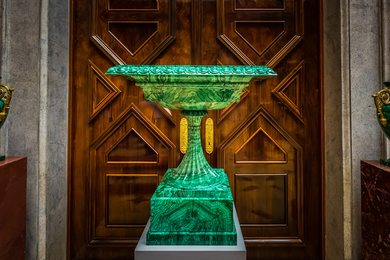Green a malachite vase,  The State Hermitage