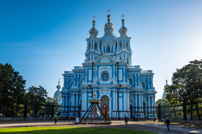 Smolny Cathredral and convent circa 1748 Italian Francesco Bartolomeo architect