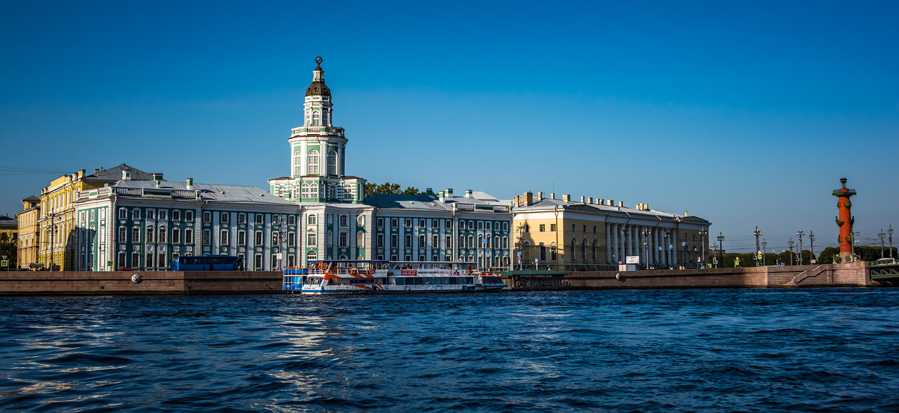 Neva River & Peter the Great Museum of Anthropology circa 1700s