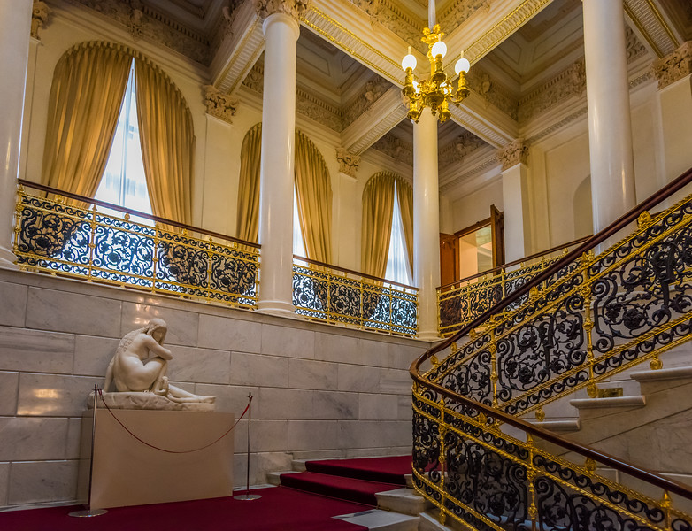 Entrance stairway, Faberge Museum