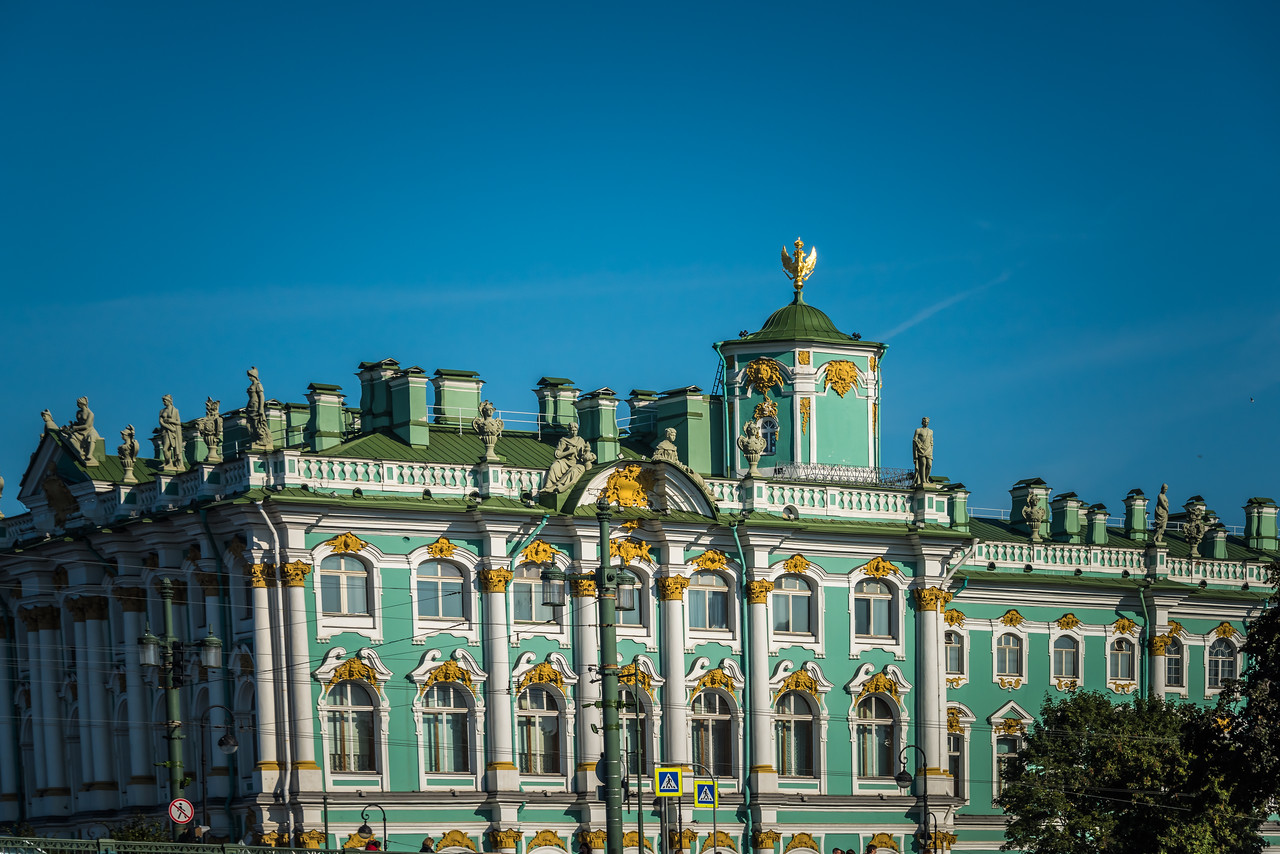 State Hermitage Museum (Winter Palace) from Neva River - - circa 1764  1 of 6 buildings