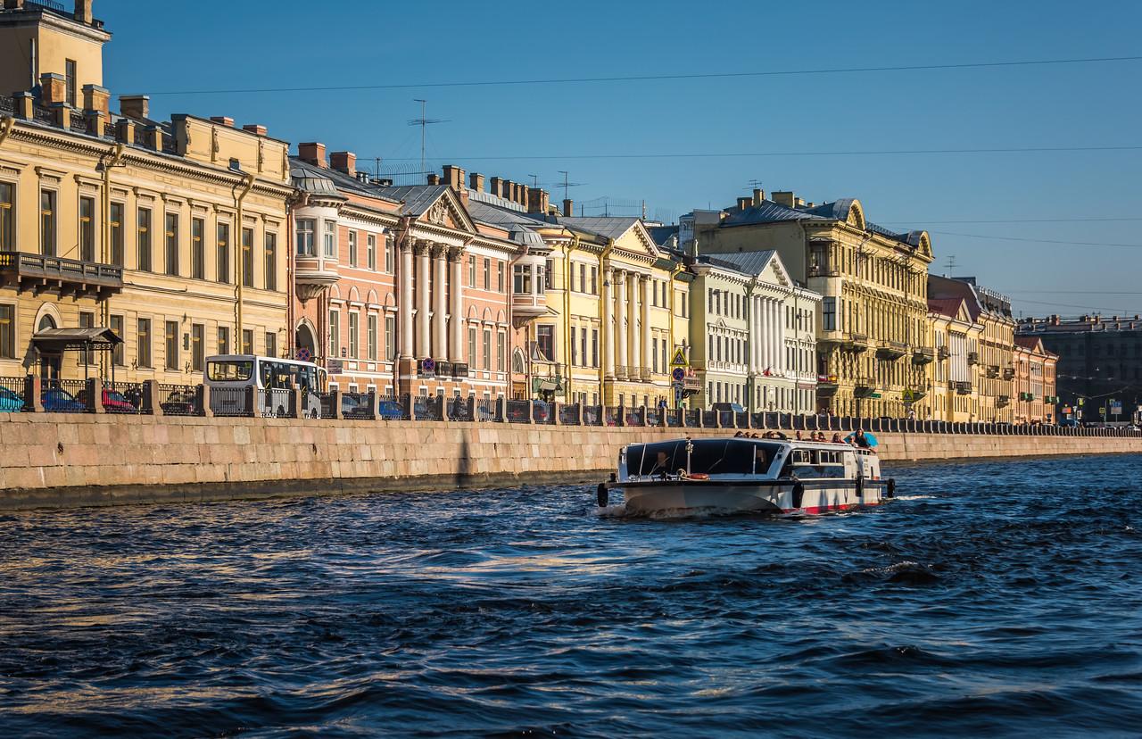 Palaces along the Fontanka River